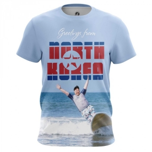 Buy Mens T shirt Greetings Kim Jong Un North Korea merchandise collectibles