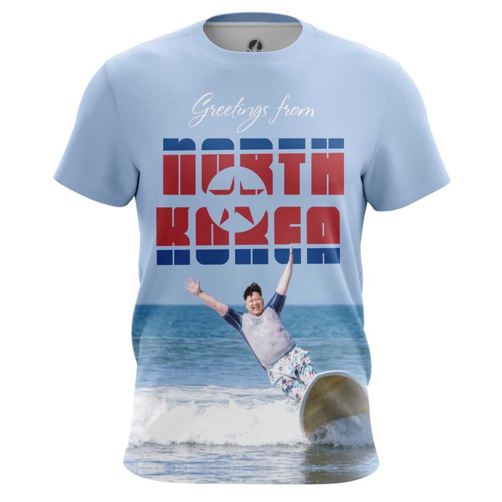Buy Mens T shirt Greetings Kim Jong Un North Korea merchandise collectibles