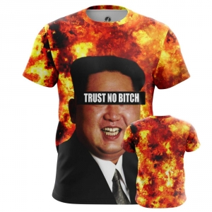 Buy Mens T shirt Kim Jong Un North Korea Trust No bitch merchandise collectibles