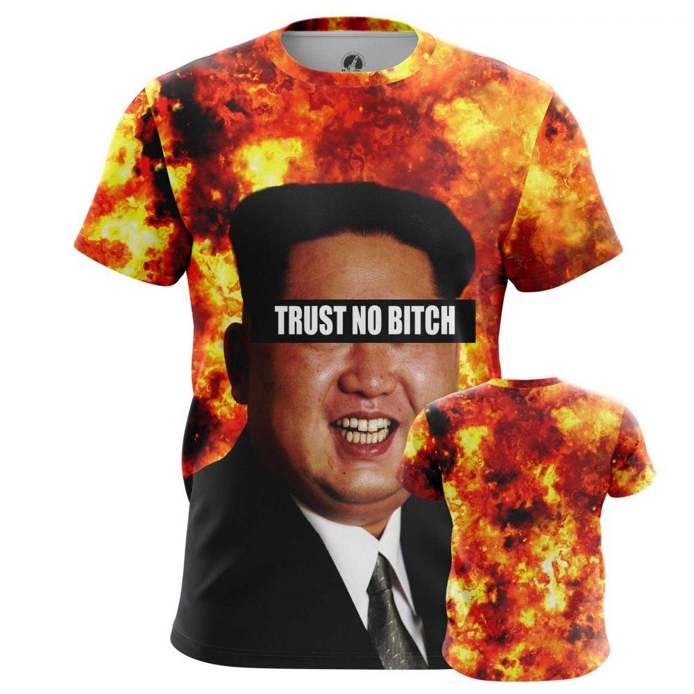 Buy Mens T shirt Kim Jong Un North Korea Trust No bitch merchandise collectibles