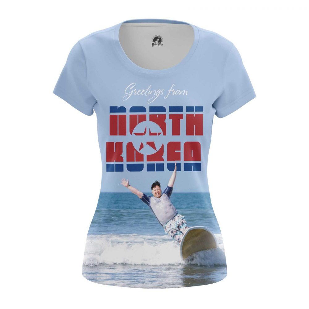 Buy Womens T shirt Hello Kim Jong Un North Korea merchandise collectibles