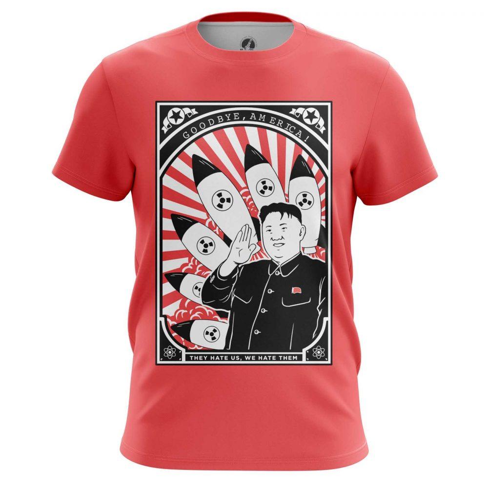Buy Mens T shirt Kim Jong Un North Korea Art merchandise collectibles
