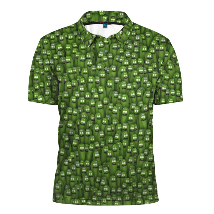 Buy Mens polo t shirt 3D Pickles Rick and morty Merch props merchandise collectibles