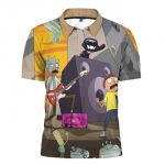 Merchandise - Polo Shirt Rick And Morty Rock Band Music