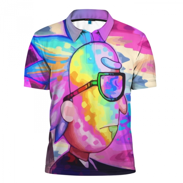 d812966bd8a Buy Mens polo t shirt 3D Colors Rick and morty merch Merchandise  collectibles