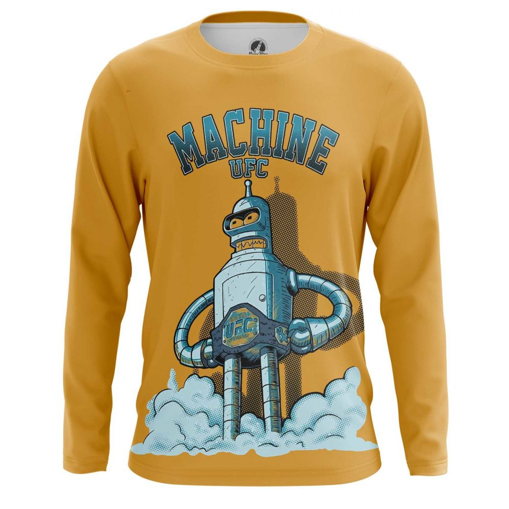 Merch Men'S Long Sleeve Ufc Machine Bender Futurama