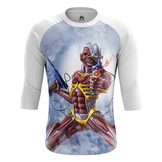 Buy Raglan sleeve mens t shirt Iron maiden Merchandise Fan Art Cover Merchandise collectibles