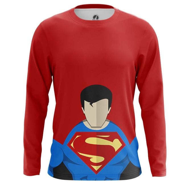 Buy Long sleeve mens t shirt Superman Minimalistic DC Art merchandise collectibles