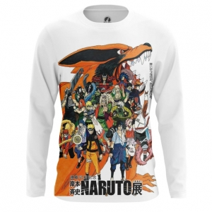 Buy Long sleeve mens t shirt Naruto merchandise Anime TV series Merchandise collectibles