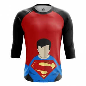 Buy Raglan sleeve mens t shirt Superman Minimalistic DC Art merchandise collectibles
