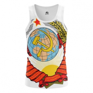 Buy Tank mens t shirt USSR Coat Hammer and sickle Soviet Union Merchandise collectibles