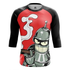 Buy Raglan sleeve mens t shirt Bender Futurama TV Series Merchandise collectibles