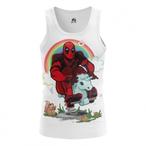 Buy Tank mens t shirt Deadpool Rainbow Unicorn Apparel Merchandise collectibles