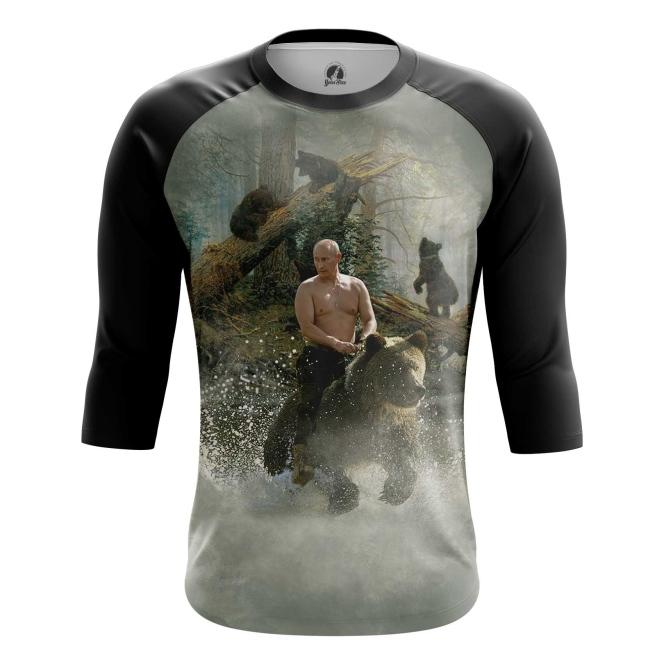 Buy Raglan sleeve mens t shirt Vladimir Putin Russian Bear Force Military merchandise collectibles