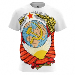Buy Mens t shirt USSR Coat Hammer and sickle Soviet Union Merchandise collectibles