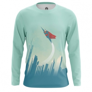 Buy Long sleeve mens t shirt Superman DC NYC New York Universe merchandise collectibles