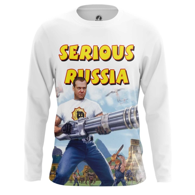 Buy Long sleeve mens t shirt Serious Russia Sam Crossover Game Politics merchandise collectibles