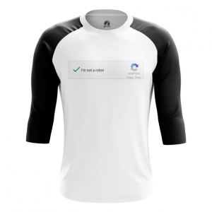Buy Raglan sleeve mens t shirt Not a robot Mem Art Captcha Web Fun merchandise collectibles