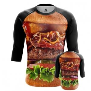 Buy Raglan sleeve mens t shirt Tasty Food Art Fun Burger Apperel Meat merchandise collectibles