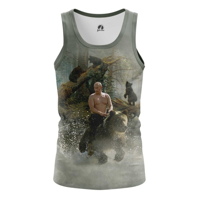 Buy Tank mens t shirt Vladimir Putin Russian Bear Force Military merchandise collectibles