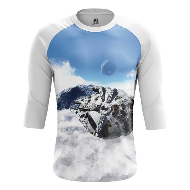 Buy Raglan sleeve mens t shirt Millennium Falcon Star Wars merch Merchandise collectibles