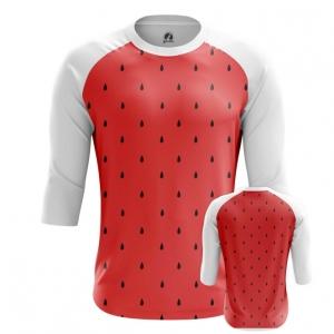 Buy Raglan sleeve mens t shirt Watermelon Pattern art Fruit merchandise collectibles
