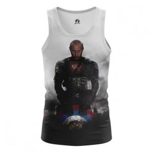 Buy Tank mens t shirt Vladimir Putin President Captain Russia Marvel Crossover merchandise collectibles