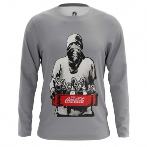 Buy Long sleeve mens t shirt coca cola Protest Illustration merchandise collectibles