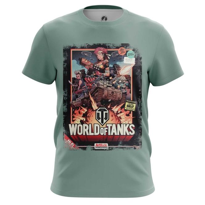 Buy Mens t shirt World of Tanks Fan Art Apparel Illustration Merchandise Merchandise collectibles
