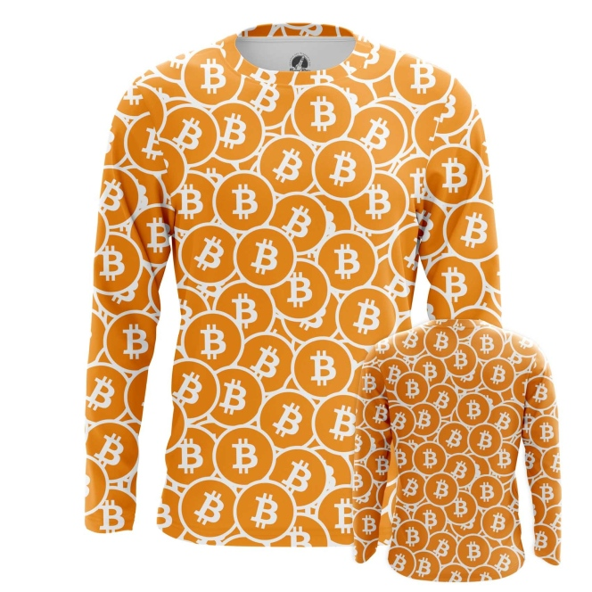 Buy Long sleeve mens t shirt Bitcoin Pattern Merchandise Mining cryptocurrency Merchandise collectibles
