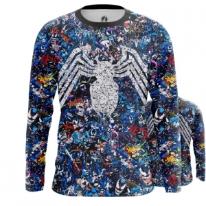 Buy Long sleeve mens t shirt Venom Symbiote Collage Pattern Print merchandise collectibles