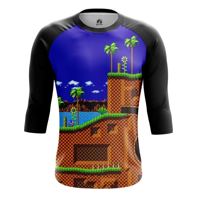 Buy Raglan sleeve mens t shirt sonic the hedgehog 16 bit World merchandise collectibles