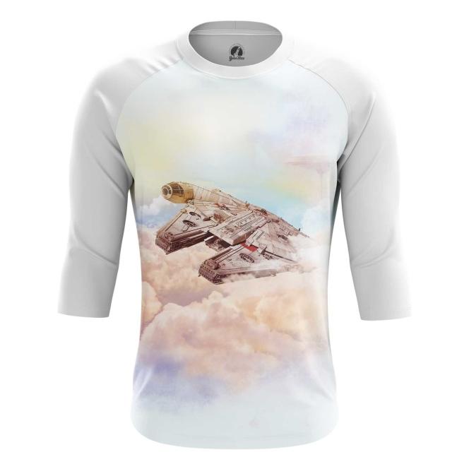 Buy Raglan sleeve mens t shirt Millennium Falcon Star Wars Ship Art Merchandise collectibles