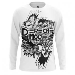 Buy Long sleeve mens t shirt Depeche Mode merchandise Black and White Fan Merchandise collectibles