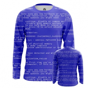 Buy Long sleeve mens t shirt Blue Screen of death Web Fun art merchandise collectibles