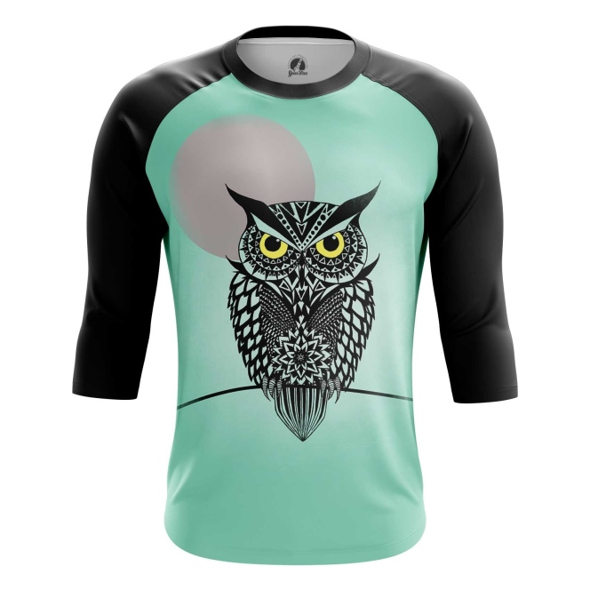 Buy Raglan sleeve mens t shirt Owl Bird Art Animals Apparel Shirts Merchandise collectibles