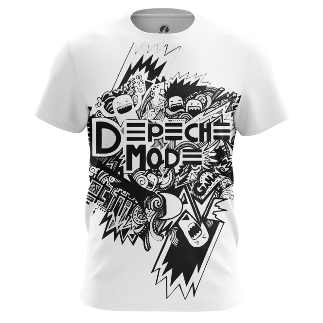 Buy Mens t shirt Depeche Mode merchandise Black and White Merchandise collectibles