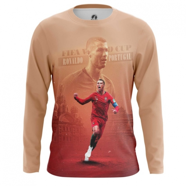buy popular 7ee90 e63d5 Long sleeve mens t-shirt Cristiano Ronaldo Picture Fan art ...