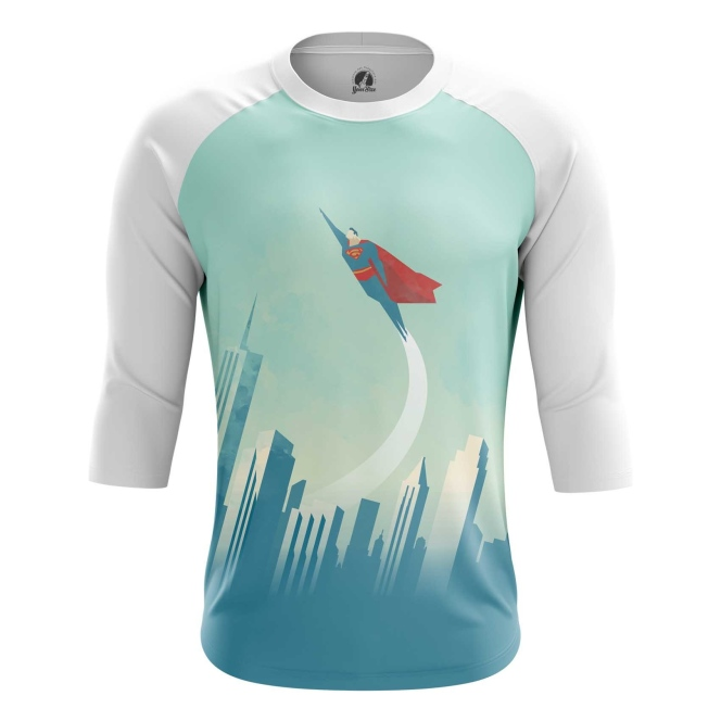 Buy Raglan sleeve mens t shirt Superman DC NYC New York Universe merchandise collectibles