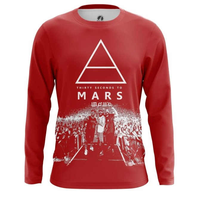 Buy Long sleeve mens t shirt 30 Seconds to Mars Band Fan Merchandise Music Merchandise collectibles