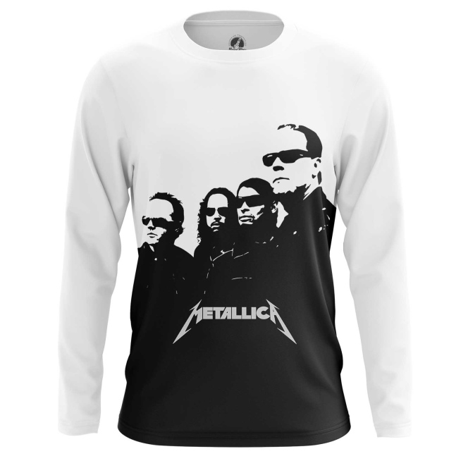 Buy Long sleeve mens t shirt Metallica in black Band Apparel Merchandise Fans Props merchandise collectibles