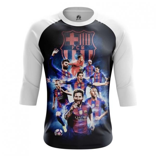 7a0a404a0 Buy Raglan sleeve mens t shirt FC Barcelona Fan Art Merch Apparel  merchandise collectibles
