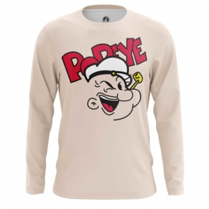 Buy Long sleeve mens t shirt Popeye the Sailor Face Merchandise Art Apparel Merchandise collectibles