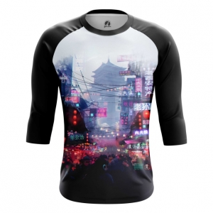 Buy Raglan sleeve mens t shirt Asia Chinatown Asian City Japan China merchandise collectibles