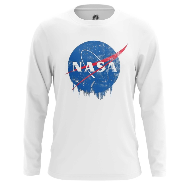 Buy Long sleeve mens t shirt NASA Logo Agency Merchandise Universe Apparel Merchandise collectibles