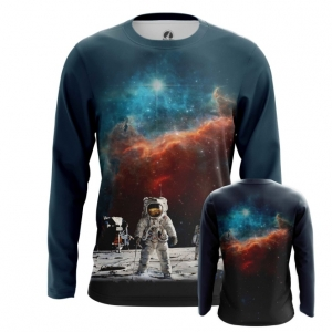 Buy Long sleeve mens t shirt Cosmonauts Art Merchandise Clothing Space merchandise collectibles