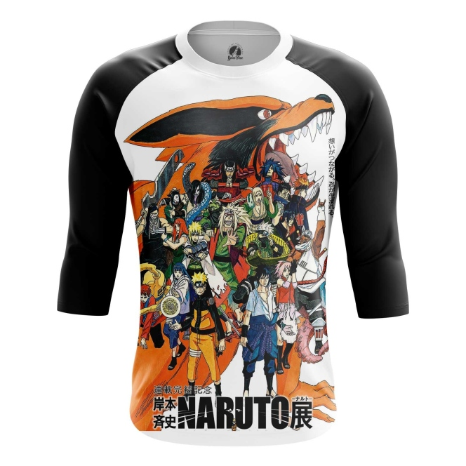 Buy Raglan sleeve mens t shirt Naruto merchandise Anime TV series Merchandise collectibles