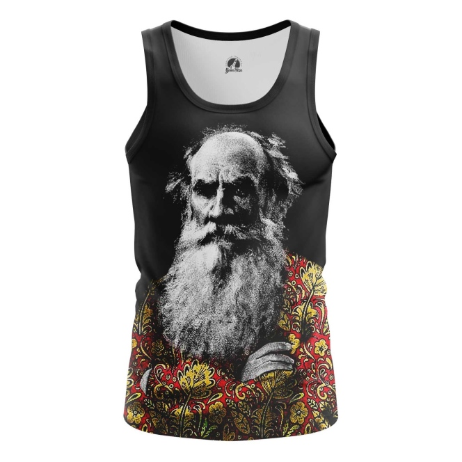 Buy Tank mens t shirt Leo Tolstoy Russian writer Merchandise collectibles