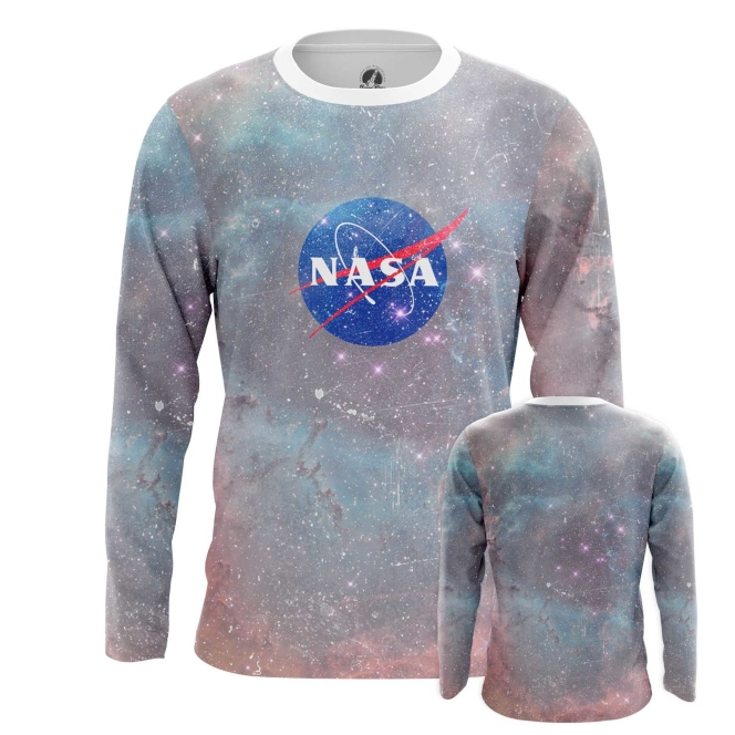 Buy Long sleeve mens t shirt NASA Agency Merchandise Universe Apparel Merchandise collectibles