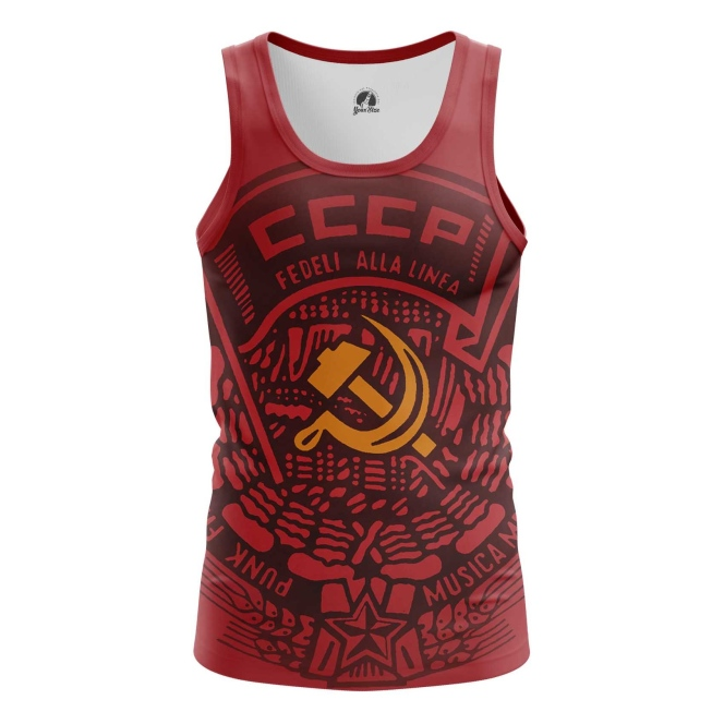 Buy Tank mens t shirt USSR Red Hammer and sickle Merchandise collectibles